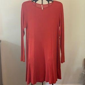 Orange Long Sleeved Dress